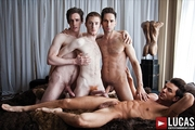Michael Lucas & Three Hot Men