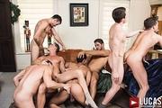 A Gay Bareback Orgy For Christmas