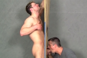 Muscular Young Leon At The Gloryhole